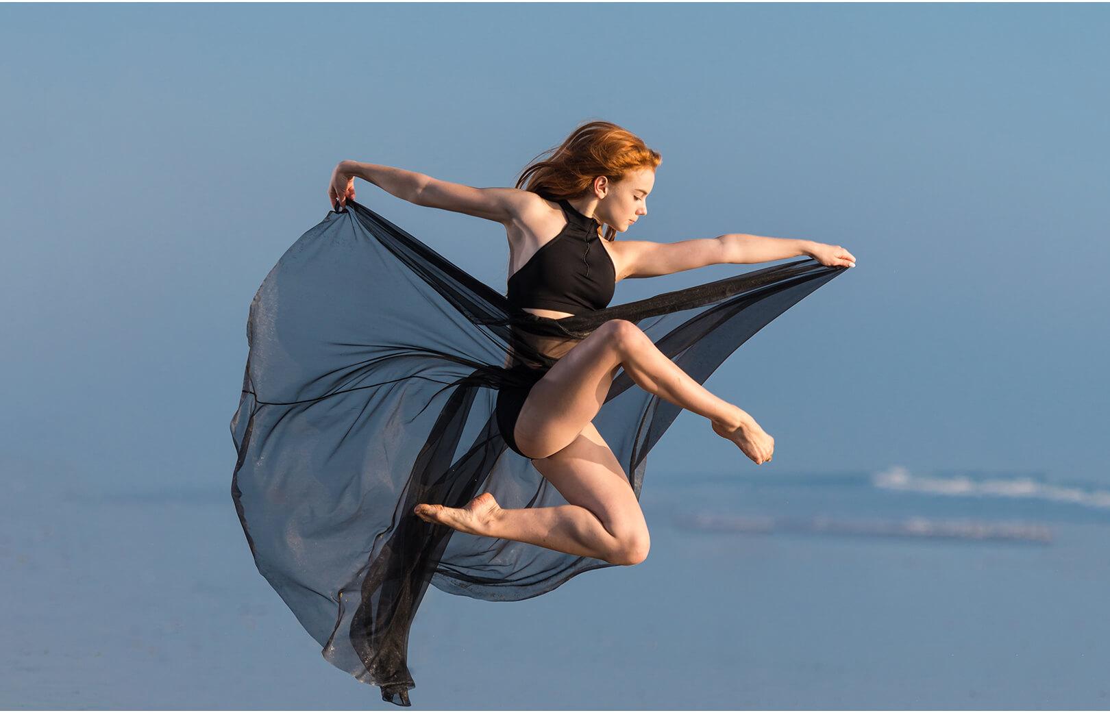 Danseuse s'envolant